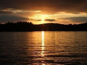 Caroga Lake at Sunset