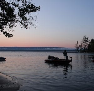 Fishing at Sunrise on the Great Sacandaga Lake