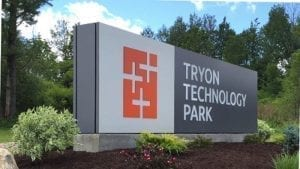 Tryon Technology Park Road sign