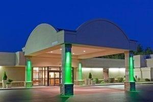 Holiday Inn lit up at Night