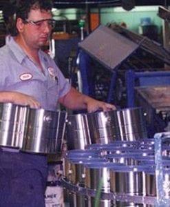 Worker making Paint at Benjamin Moore