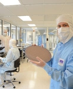 Skilled technicians in clean room