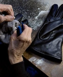 gloves being hand sewn at Samco