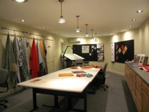 The showroom at Townsend Leather's existing headquarters in Johnstown.