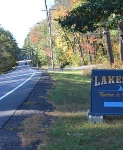 Lakeside Tavern turn off from Route 30