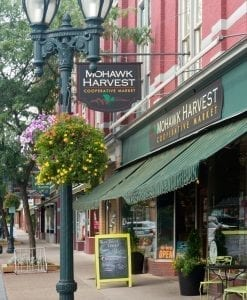 Mohawk Harvest Coop with beautiful hanging basket