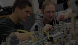 students building gadgets