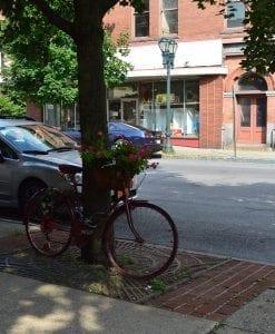 bike with flowers downtown gloversville