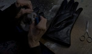 sewing leather gloves