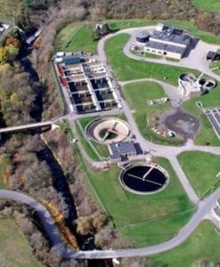 Aerial View of Water processing Plant