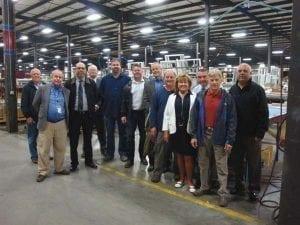 Board on Tour of Broadalbin manufacturing
