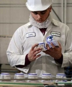 Worker on Assembly Line at Fage