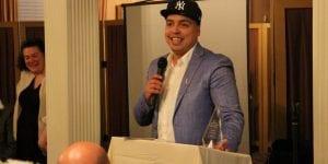 Michael Medina, owner of the Fulton County Barbershop