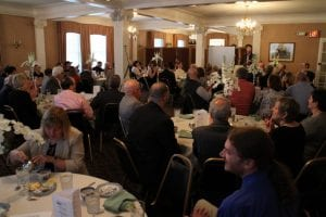 Ron Peters speaks during Placemaking in Gloversville
