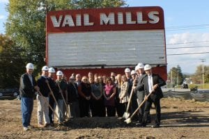 ground breaking at Vail Mills